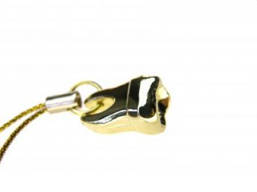 keychain gold tooth 7.5 cm