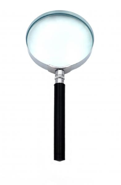 magnifying glass round black with handle 17 cm