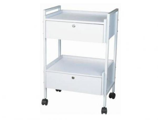 Beauty trolley 2 fold with 2 drawers